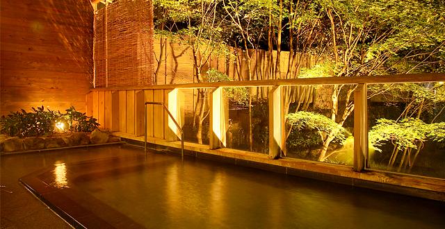 下呂温泉 山形屋の露店風呂