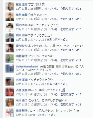 Facebookの反響